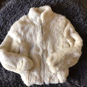 Princess Caravelle Vintage Rabbit Fur Coat Size 10